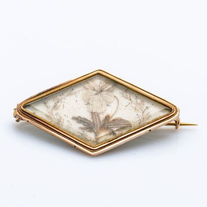 Broche en or jaune 18 carats (750 millièmes)en...
