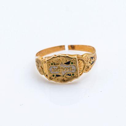 Bague souvenir en or jaune 18 carats (750...