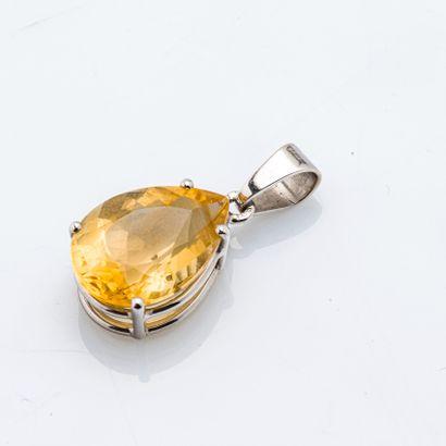 Pendentif en or gris 18 carats (750 millièmes)...