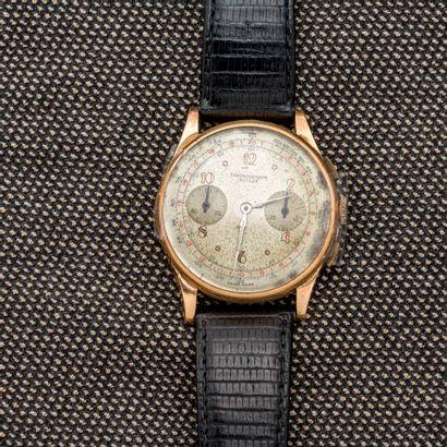 CHRONOGRAPHE SUISSE  Montre bracelet en or...