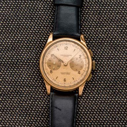 CHRONOGRAPHE SUISSE, vers 1950  Montre bracelet...
