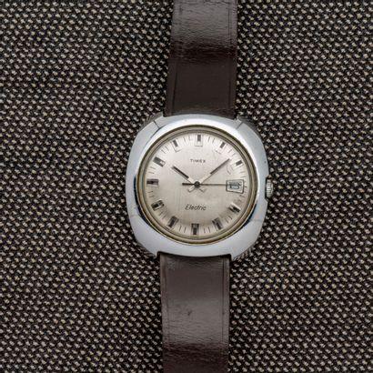 TIMEX - Electric  Montre bacelet en acier,...