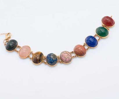 Bracelet en or jaune 14 carats (585 millièmes)...