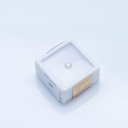 Diamant rond sous scellé de 0,35 carat, Sparkly...