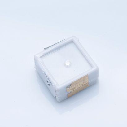 Diamant rond de 0,35 carat, Sparkly Off White,...