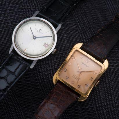 Lot de deux montres comprenant :  - BAUME...