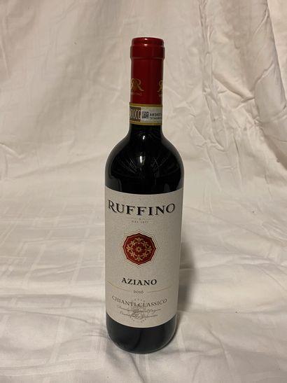Lot de 7 bouteilles  Ruffino Azziano  Chianti...