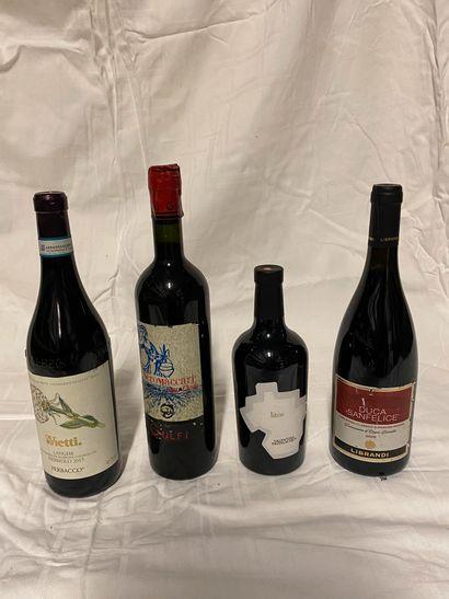 Lot de 4 bouteilles comprenant :  1 bouteille...