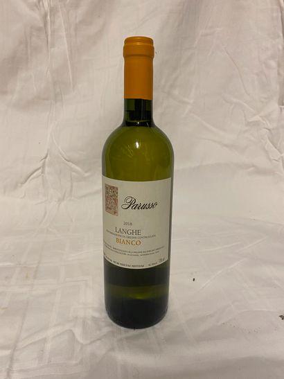 Lot de 8 bouteilles de vin blanc  Parusso...