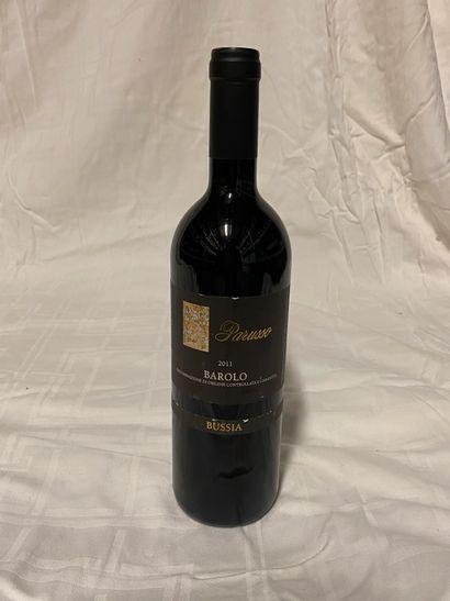 Lot de 5 bouteilles  Parusso Butia  Barolo,...