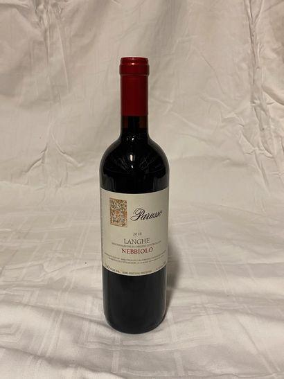 Lot de 6 bouteilles  Parusso  Nebbiolo Langhe,...