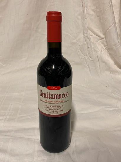 Lot 4 bouteilles  Grattamaco  Bolghieri Superiore,...