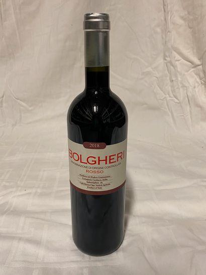 Lot de 9 bouteilles  Grattamaco  Bolgheri,...