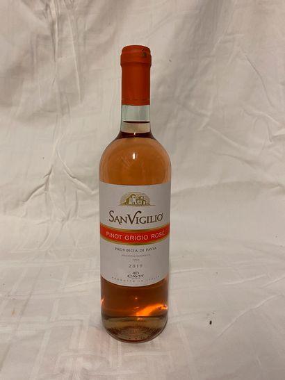 Lot de 22 bouteilles de vin rosé  Cavit  San...