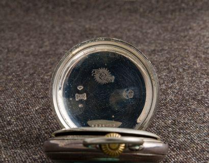 VICTORIA, début du XXème siècle Montre de poche en argent (925 millièmes), cadran...