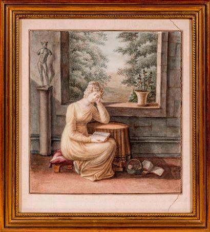 Ecole Romantique du XIXème siècle  La lecture...