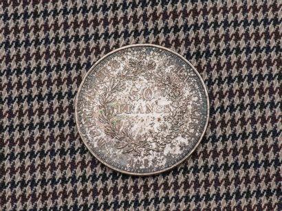 Pièce de 50 Francs en argent Hercules 1977....