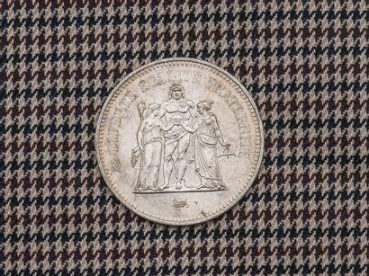 Pièce de 50 Francs en argent Hercules 1976....