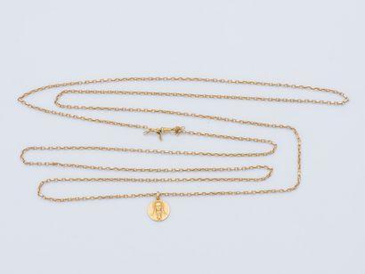 Chaîne de montre en or jaune 18 carats (750...