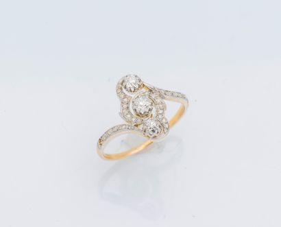 Bague duchesse en or jaune 18 carats (750...