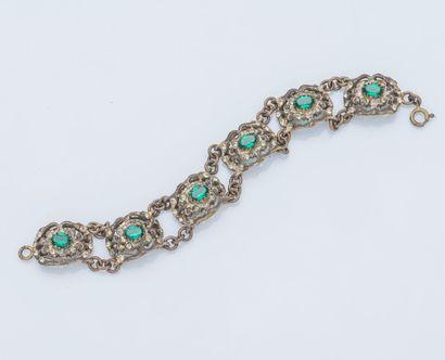 Bracelet en argent (925 ‰) composé de six...