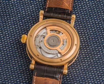 CHRONOSWISS Montre bracelet Lunar Vollkalendarium Ref. CH 9321R en or jaune 18 carats...
