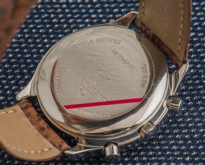 BAUME & MERCIER Steel Baumatic chronograph, round case with clip-on back (signed...