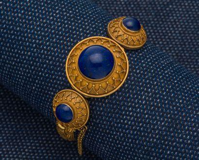 Bracelet ouvrant en or jaune 18 carats (750...