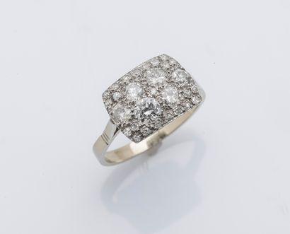 Bague en or jaune et or gris 18 carats (750...