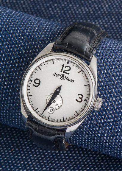 BELL & ROSS, vers 2009 Montre bracelet Vintage Geneva 123, boîtier en acier à lunette...