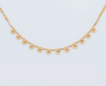 Collier collerette or jaune 18 carats (750...