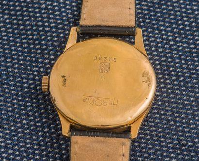 HERODIA Montre classique antimagnétique en or jaune 18 carats (750 ‰), le boîtier...