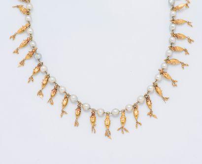 Collier draperie en or jaune 18 carats (750...