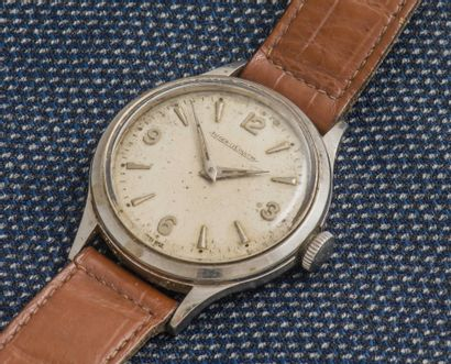 JAEGER LECOULTRE Montre bracelet classique, le boîtier rond en acier à fond vissé,...