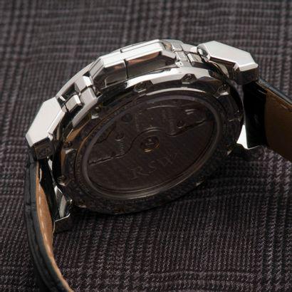 RSW, 3501 MS Montre bracelet d'homme, le boîtier rond en acier, la lunette scandée...