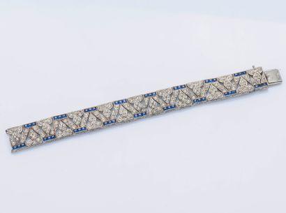 Bracelet ruban en argent (925 ‰) composé...