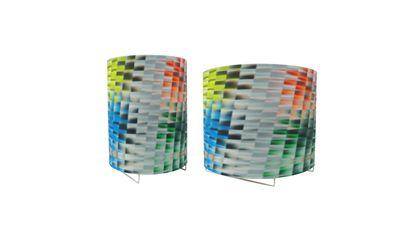 58 lampes à poser en métal laqué blanc et...
