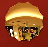 4 gold plated mirrors model Endora in acrylic...