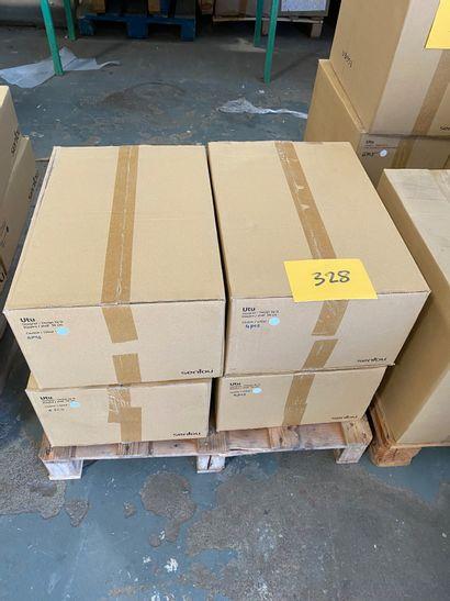 16 étagères modèle UTU en métal laqué blanc...