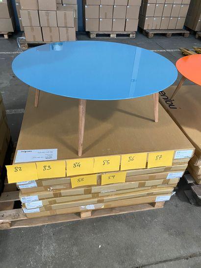 Table basse ronde modèle Lalinde, pied bois...