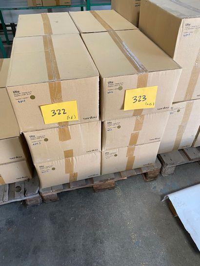 24 étagères modèle UTU en métal laqué couleur...