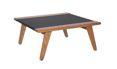 Table basse modèle Satomi en bois et tatami couleur anthracite  80 x 80 x 35 cm...