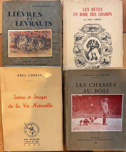 [CHASSE] Ensemble de livres sur la Chasse. 16 volumes. Bécasses, vènerie - Lurk...