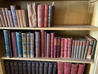 Lot d'ouvrages de littérature dont Oeuvres de Racine (1829, in-4 relié pleine basane,...