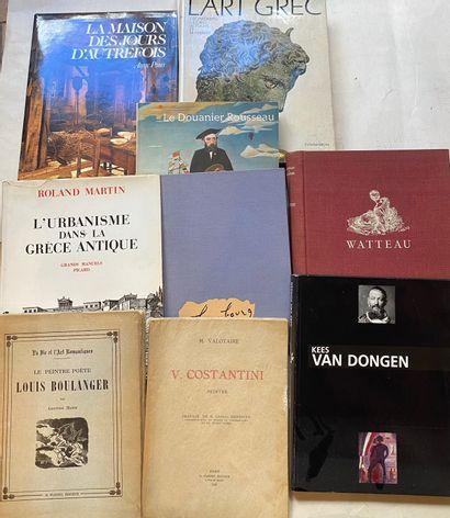 [BEAUX-ARTS] Ensemble de 19 volumes. Peinture, calligraphie - Watteau, Rubens, Van...