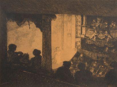 Ecole du XIXème siècle,  La cantatrice à...