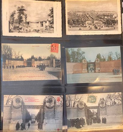 [CIMETIERE DU PÈRE LACHAISE] Ensemble de plus de 250 cartes postales anciennes sur...