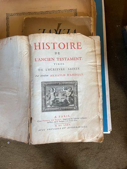 [Religion]  - La Genèse. 1686, in-8 relié pleine basane  - L'Apocalypse. 1711, in-8...