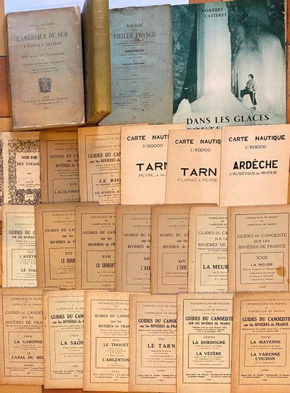 [VOYAGES] Ensemble de 20 volumes et 17 guides du canoëiste.