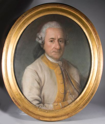 Ecole française du XVIIIème siècle,  Portrait...